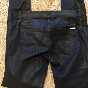Leather (fake) jeans whitehouse BM Size 0R